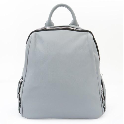 Дамска раница чанта висококачествена еко кожа  текстилна подплата PAULA VENTI модел SIENA цвят светло син