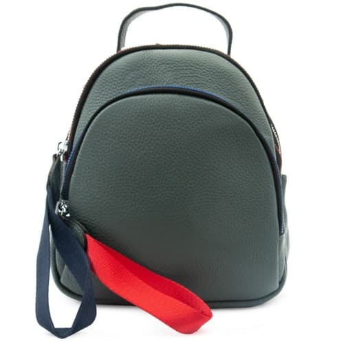 Дамска раница и чанта 2 в 1 ENZO NORI от естествена кожа модел DALE цвят син-зелен