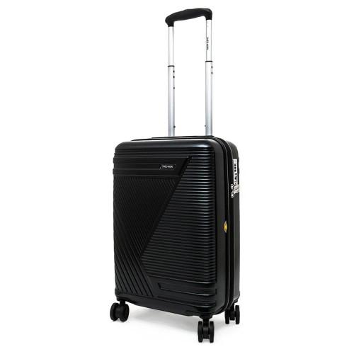Луксозен твърд куфар от поликарбонат ENZO NORI модел GALAXY 54 см за ръчен багаж цвят черен