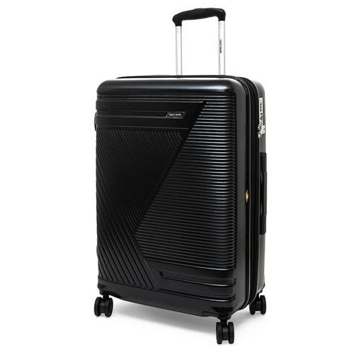 Луксозен твърд куфар от поликарбонат с разширение ENZO NORI модел GALAXY 75 см спинер цвят черен