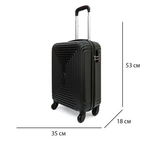 Три броя твърди куфари комплект от ABS комплект модел HAVANA с 4 колелца цвят черен