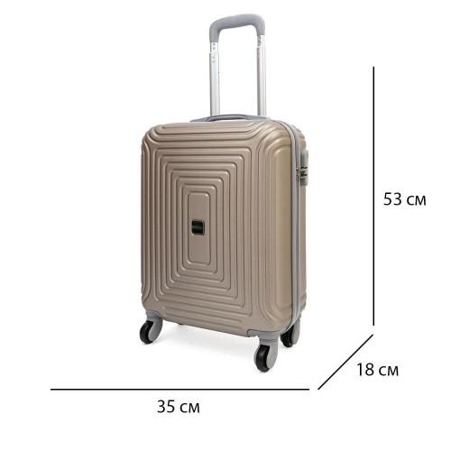Малък размер твърд куфар за ръчен багаж от ABS с 4 колелца KREAL модел HAVANA 53 см цвят златен