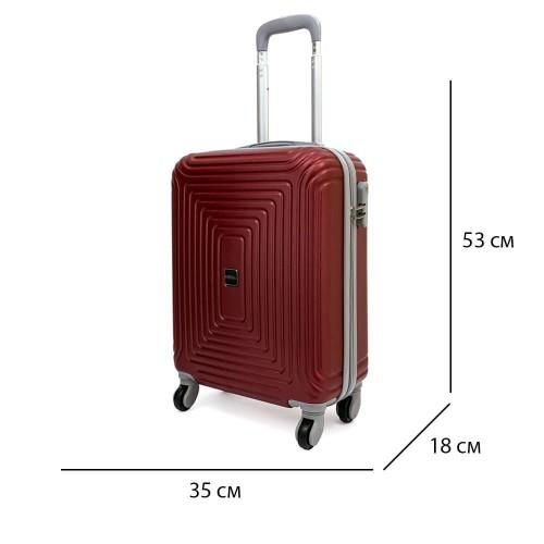 Стилни твърди куфари комплект от ABS модел HAVANA с 4 колелца и цвят бордо