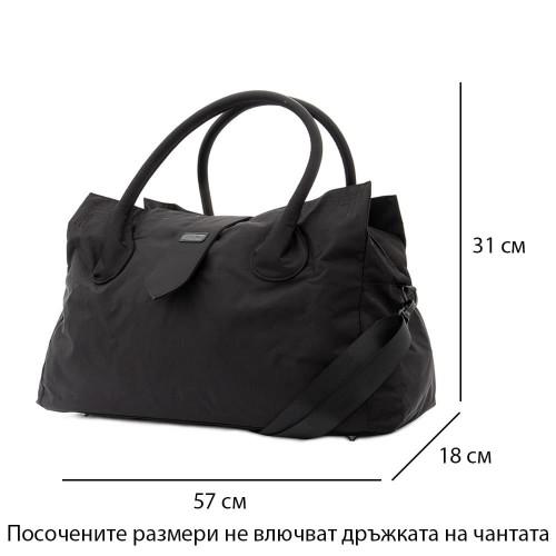 Пътна чанта / спортен сак ENZO NORI модел ELEVEN с дълга подвижна дръжка цвят черен