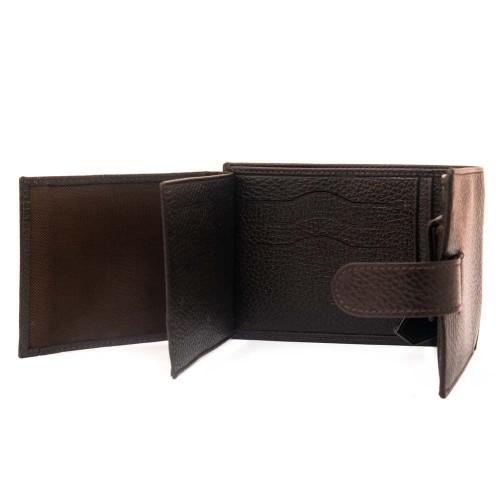 Елегантен мъжки портфейл ENZO NORI модел ENP25 естествена кожа тъмно кафяв