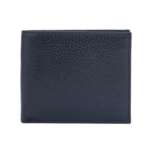 Стилен мъжки портфейл ENZO NORI модел FREDO естествена кожа цвят тъмно син