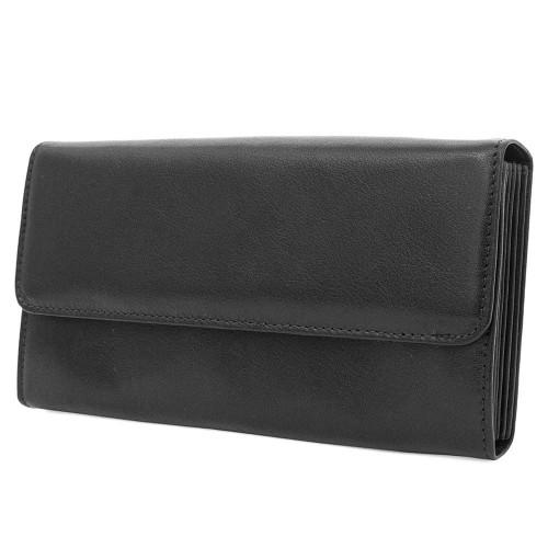 Работно портмоне от висококачествена естествена кожа ENZO NORI модел MILLION цвят черен