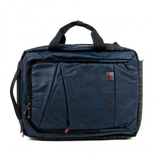 Раница с отделение за лаптоп и чанта с дълга дръжка две в едно ENZO NORI модел GATE цвят син
