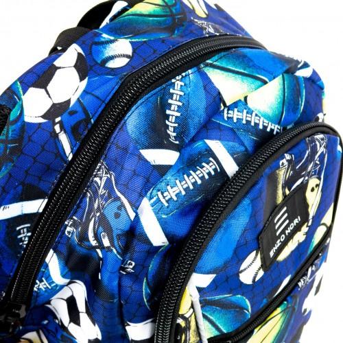 Текстилна раница с отделение за лаптоп или таблет ENZO NORI модел SPORT цвят син