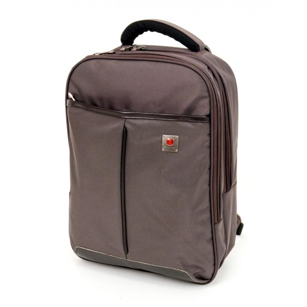 Спортна раница ENZO NORI модел BOXES с отделение за лаптоп цвят кафяв