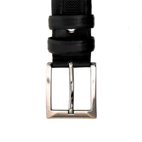 Мъжки колан от висококачествена естествена кожа ENZO NORI ENK05 с класическа тока цвят черен