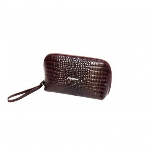 Дамска чанта / козметичка PV 064 бордо лазер