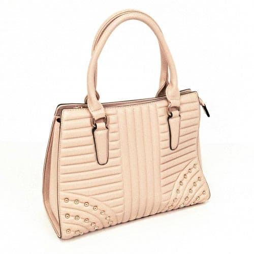 Дамска чанта модел PVD6556 цвят розово-бежов