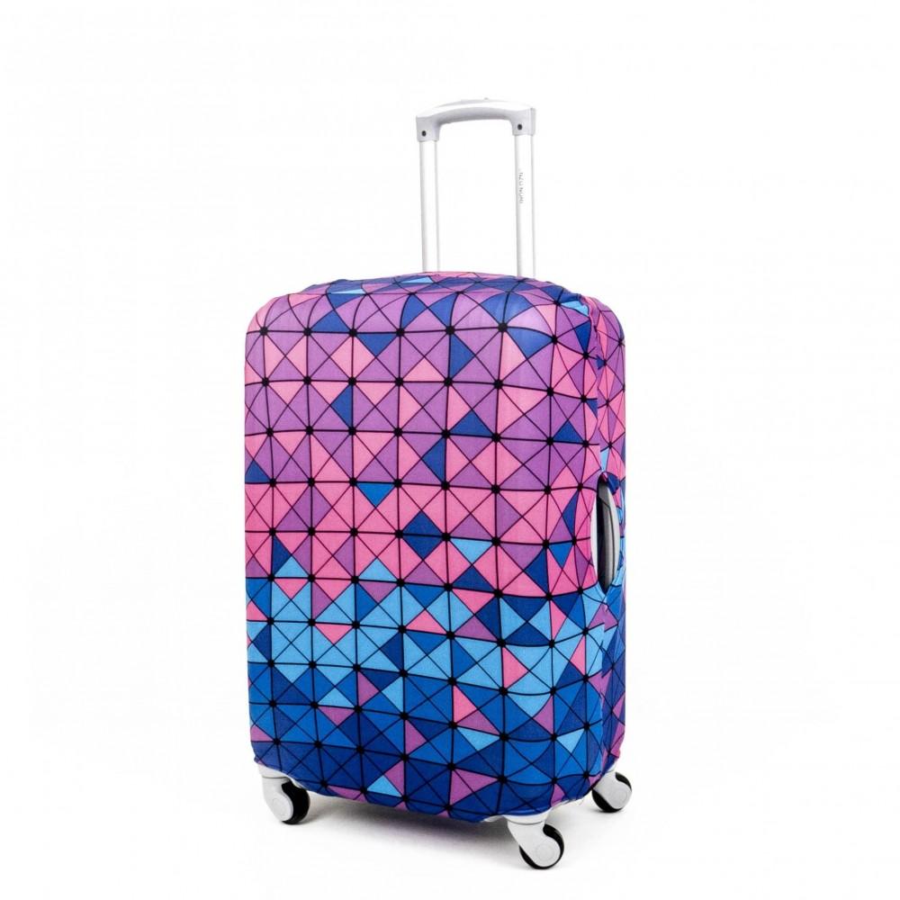 Калъф за куфар ENZO NORI модел COLORS размер M еластичен текстил с отвори за дръжките на куфара