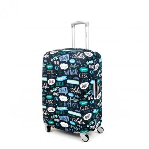 Калъф за куфар ENZO NORI модел ALOHA размер S еластичен текстил с отвори за дръжките на куфара