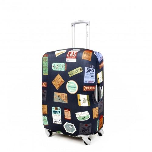 Калъф за куфар ENZO NORI модел NEVADA размер S еластичен текстил с отвори за дръжките на куфара