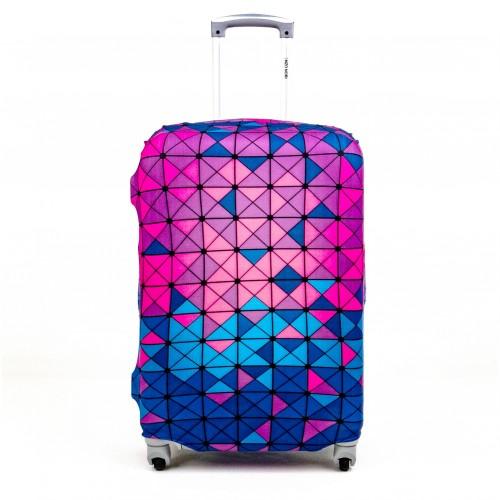 Калъф за куфар ENZO NORI модел COLORS размер S еластичен текстил с отвори за дръжките на куфара