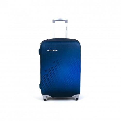 Калъф за куфар ENZO NORI модел AIRPLANE размер S еластичен текстил с отвори за дръжките на куфара