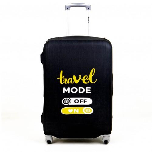 Калъф за куфар ENZO NORI модел TRAVEL размер S еластичен текстил с отвори за дръжките на куфара