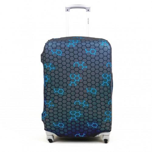 Калъф за куфар ENZO NORI модел WEB размер S еластичен текстил с отвори за дръжките на куфара