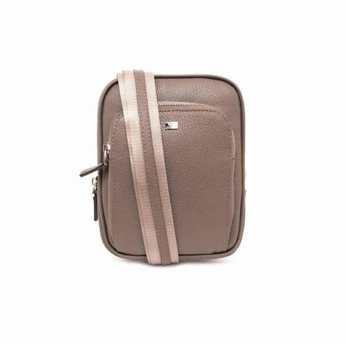 Спортна елегантна мъжка чанта от естествена кожа ENZO NORI модел VICI бежов
