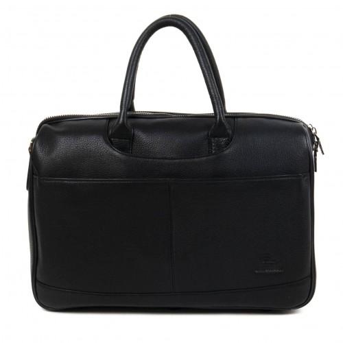 Стилна мъжка пътна чанта ЕNZO NORI изработена от 100% естествена кожа модел LANE цвят черен