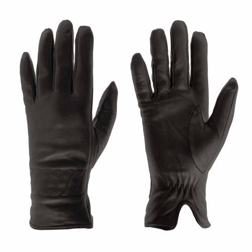 Дамски ръкавици от естествена кожа PAULA VENTI модел PVG1011.1 цвят черен