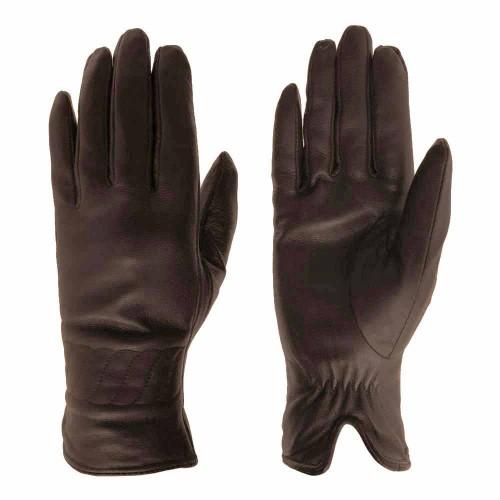 Дамски ръкавици от естествена кожа PAULA VENTI модел PVG1011.5 цвят кафяв