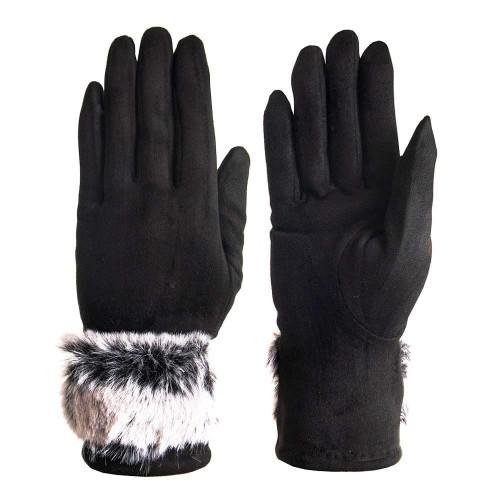 Дамски ръкавици от висококачествен текстил PAULA VENTI модел PVG0004.1 черен