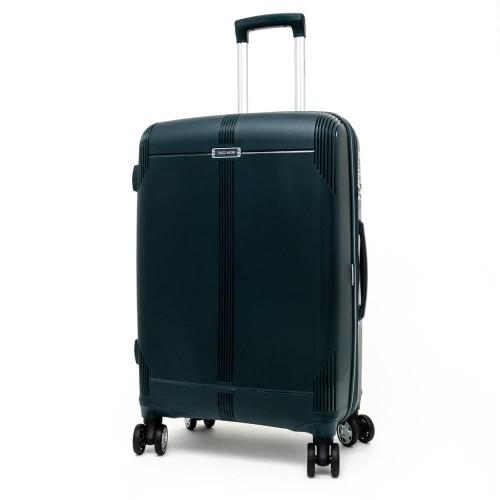Твърд куфар от полипропилен ENZO NORI модел LONDON 76 см спинер с разширение син