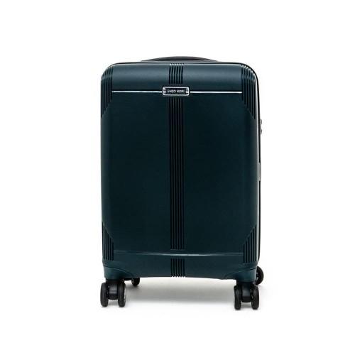 Син куфар за ръчен багаж от полипропилен с TSA заключващ механизъм ENZO NORI модел LONDON 55 см