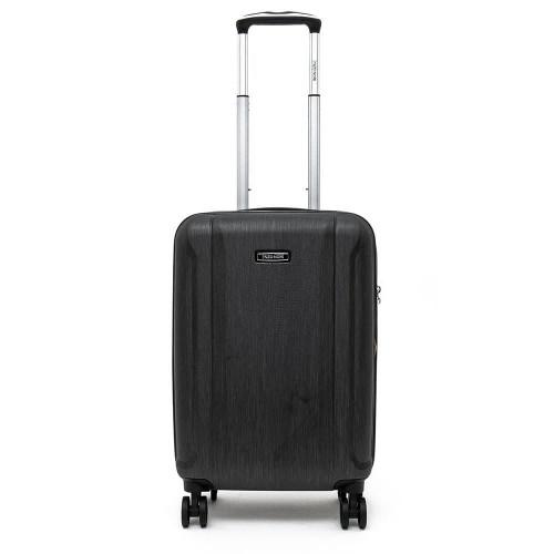 Луксозен твърд куфар от поликарбонат ENZO NORI модел PRIDE 55 см за ръчен багаж цвят черен