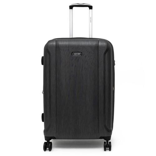 Луксозен твърд куфар от поликарбонат с разширение ENZO NORI модел PRIDE 78 см спинер цвят черен