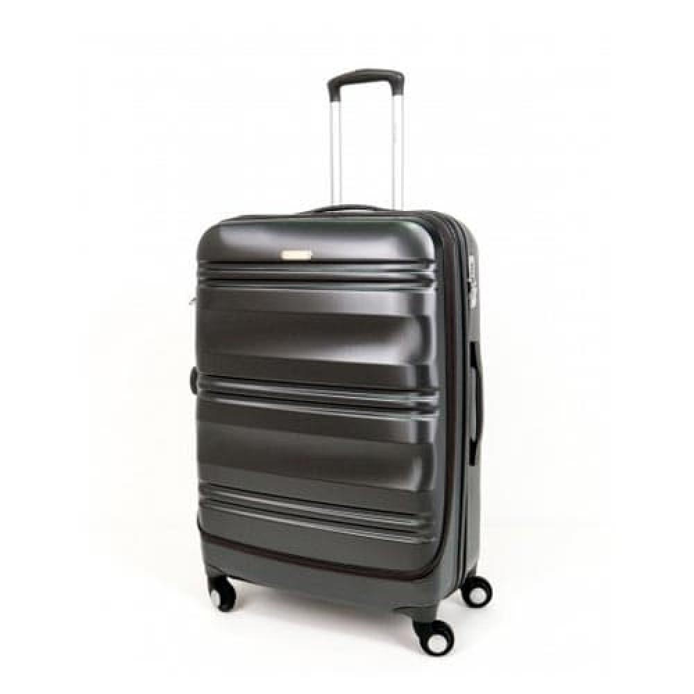 Куфар ENZO NORI модел GRANITE 56 см за ръчен багаж с 4 колелца поликарбонат сив