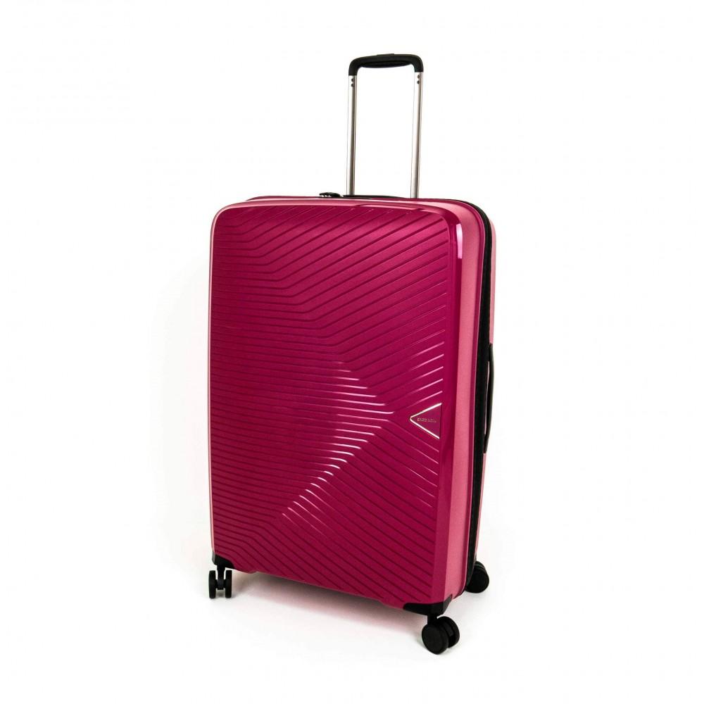 Куфар ENZO NORI модел AERO 67 см полипропилен с 4 колелца червен непромокаем