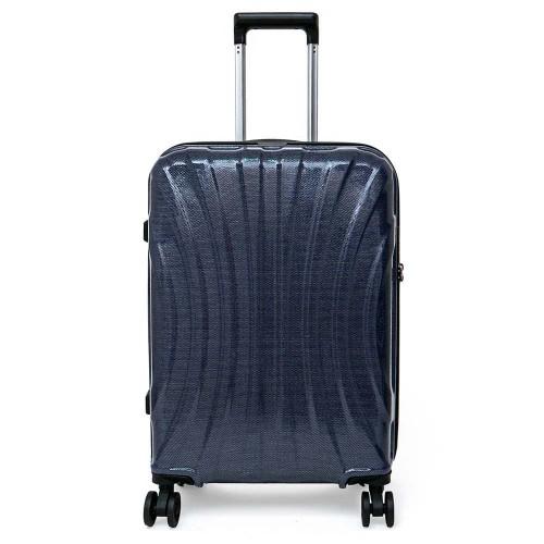 Куфар ENZO NORI модел SHELL 62 см с 4 колелца ултра лек поликарбонат син