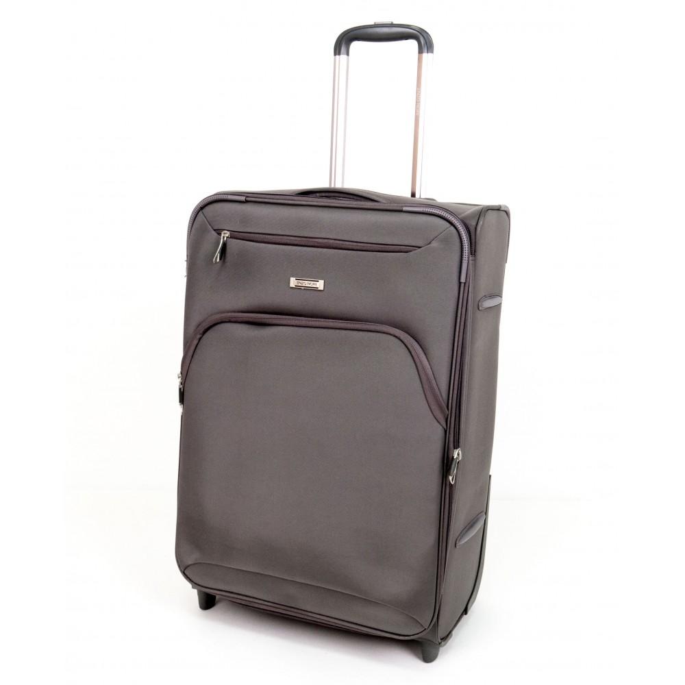 Куфар ENZO NORI модел COTTON 64 см от текстил с 2 колелца сив