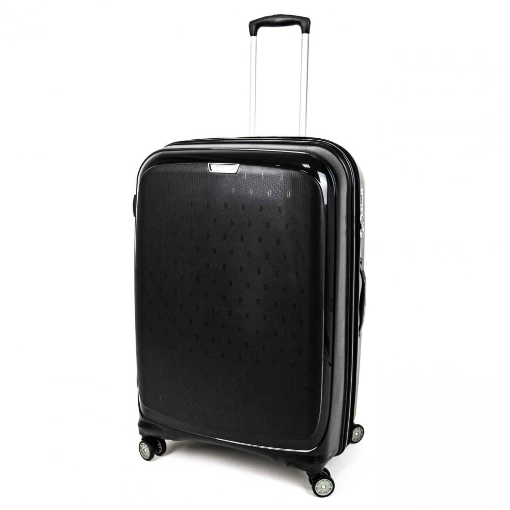 Куфар ENZO NORI модел NOVA 75 см с 4 двойни колелца черен полипропилен