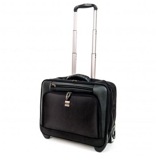 Куфар ENZO NORI модел BUSINESS за ръчен багаж и документи цвят черен текстил