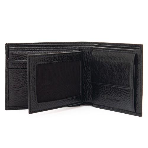 Стилен мъжки портфейл ENZO NORI модел LUKAS цвят черен грапав