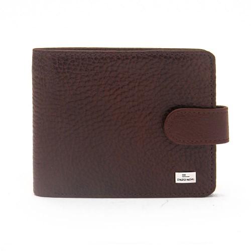 Елегантен мъжки портфейл от естествена кожа ENZO NORI модел FERO цвят кафяв