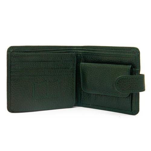 Елегантен мъжки портфейл от естествена кожа ENZO NORI модел FERO цвят зелен