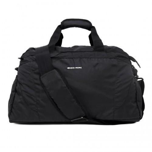 Пътна чанта / спортен сак ENZO NORI модел SEVEN-L голям с дълга подвижна дръжка цвят черен