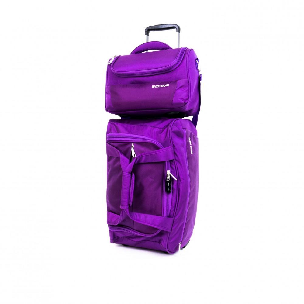 Пътна чанта с колелца ENZO NORI ENS04 лилав