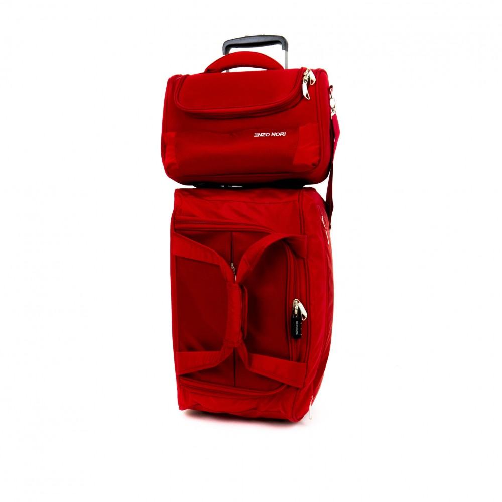 Пътна чанта с колелца ENZO NORI ENS04 червен